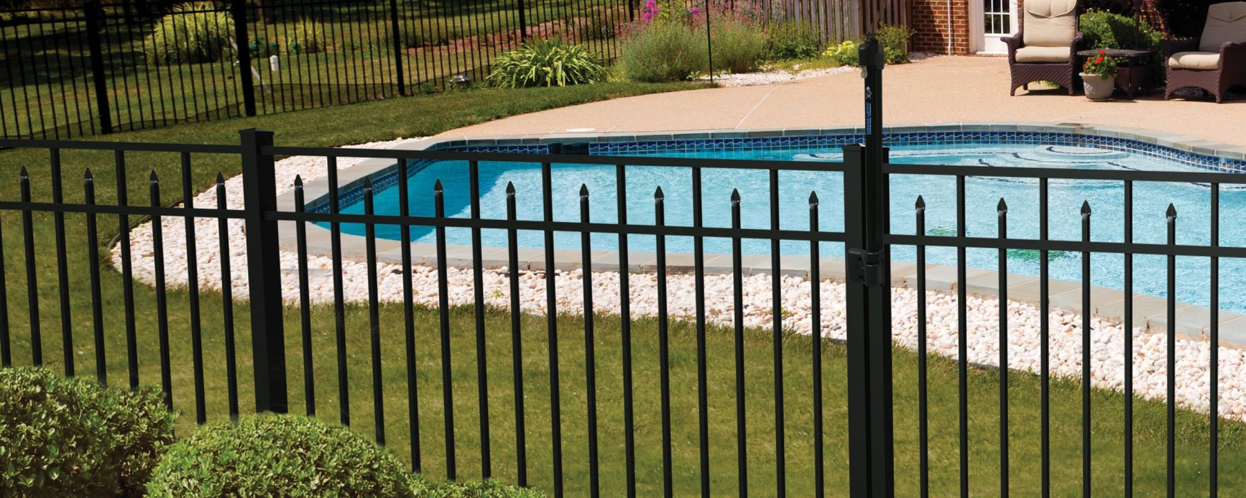 Amethyst Drop Rail Aluminum Fence